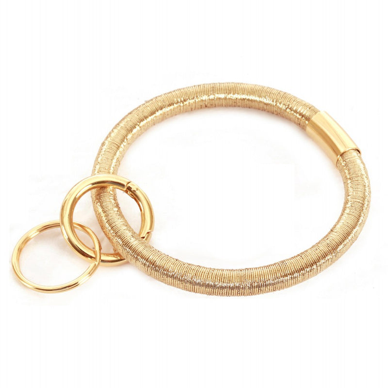 THE COIL KEYRING- GOLD
