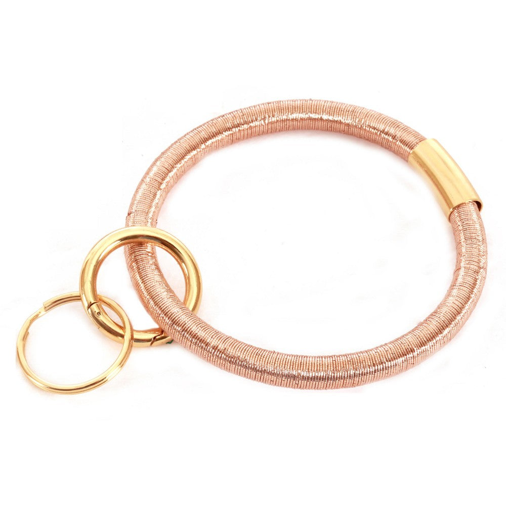 THE COIL KEYRING- ROSE GOLD
