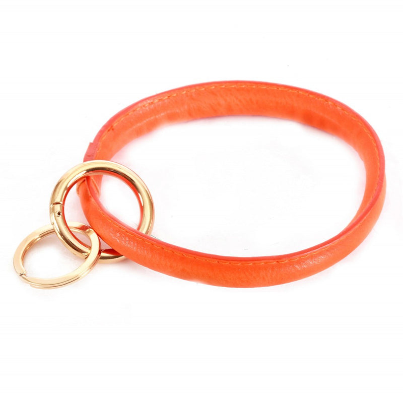 THE FAUX LEATHER KEYRING - ORANGE