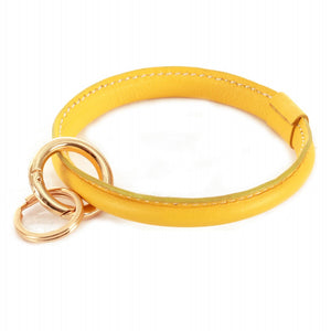 THE FAUX LEATHER KEYRING - YELLOW