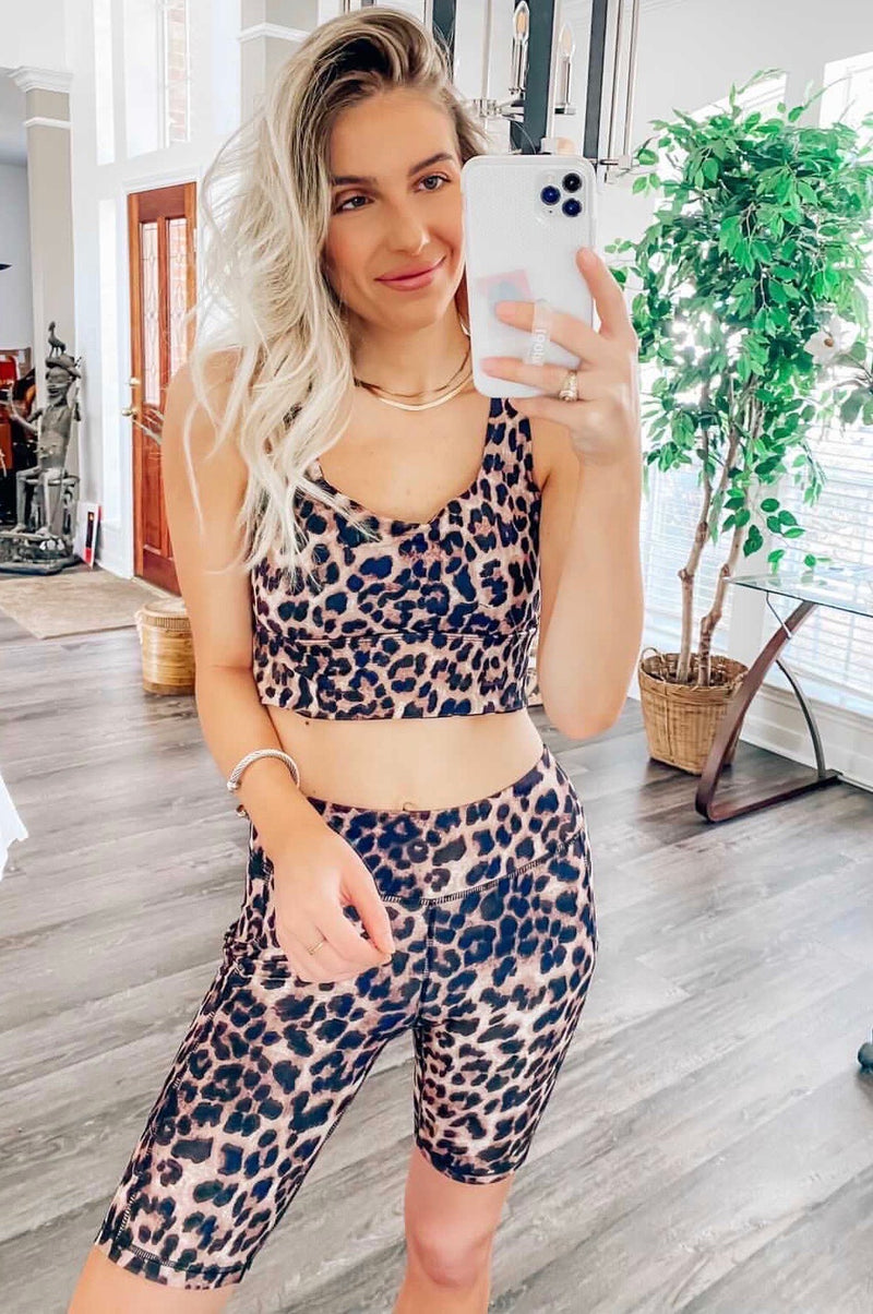 THE CANT BE TAMED - LEOPARD BUTTER CRUSH BRALETTE