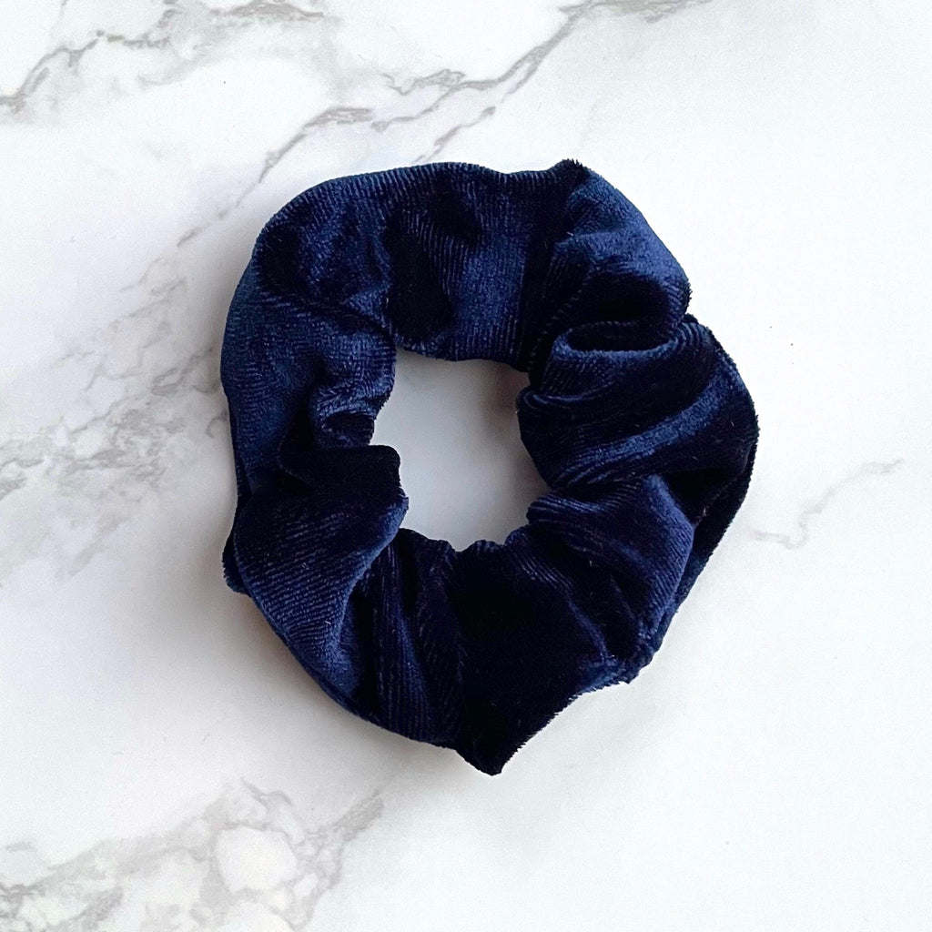 THE VELVET SCRUNCHIE - BLUEBERRY