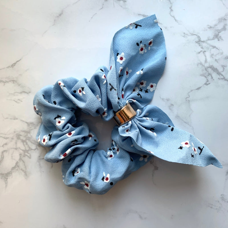 THE SCRUNCHIE BUNNY EARS - BLUE FLORAL