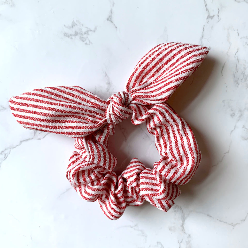 THE BUNNY SCRUNCHIE - RED STRIPE