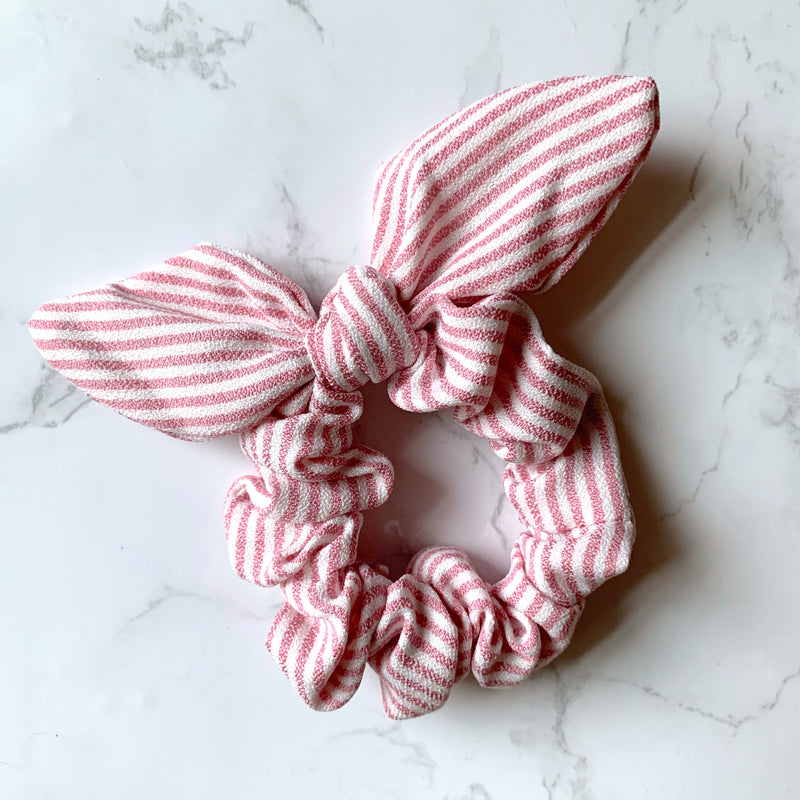 THE BUNNY SCRUNCHIE - LIGHT PINK STRIPE