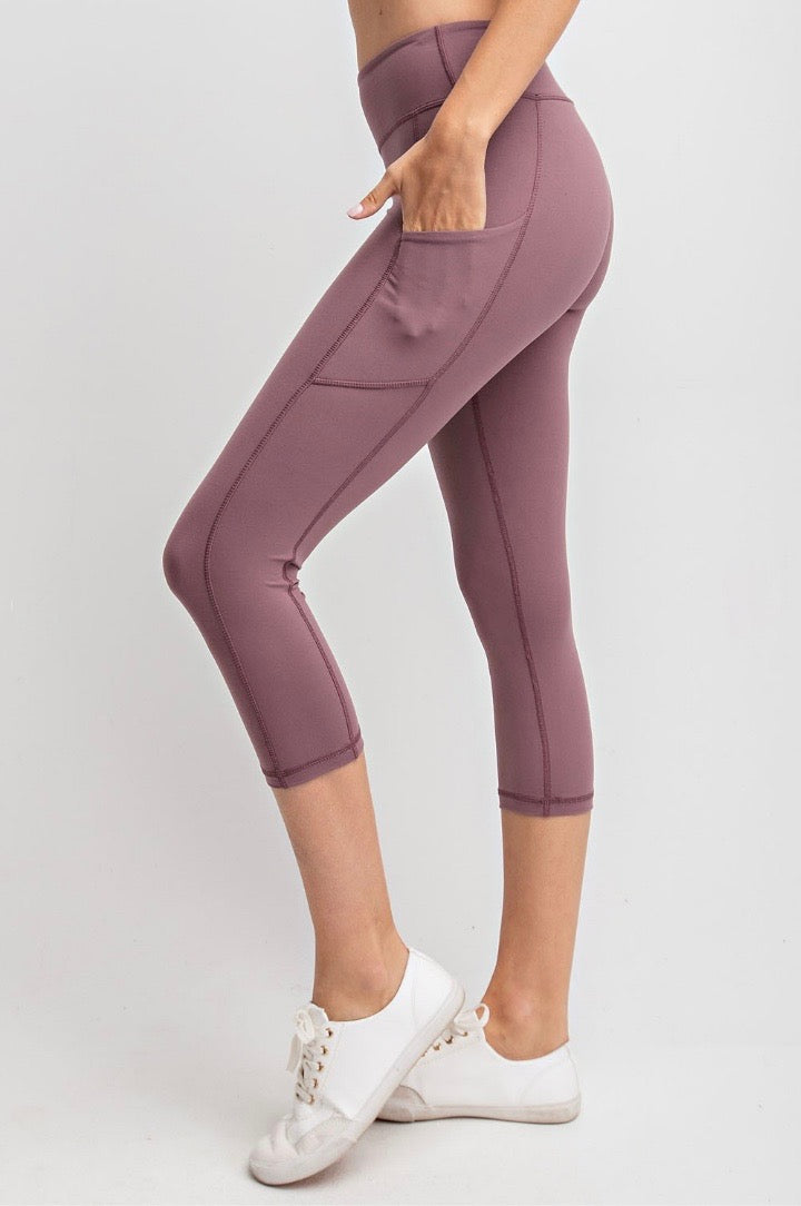 THE BUTTER ROCKS CROP - DK MAUVE