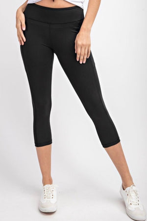 THE BUTTER ROCKS CROP - BLACK