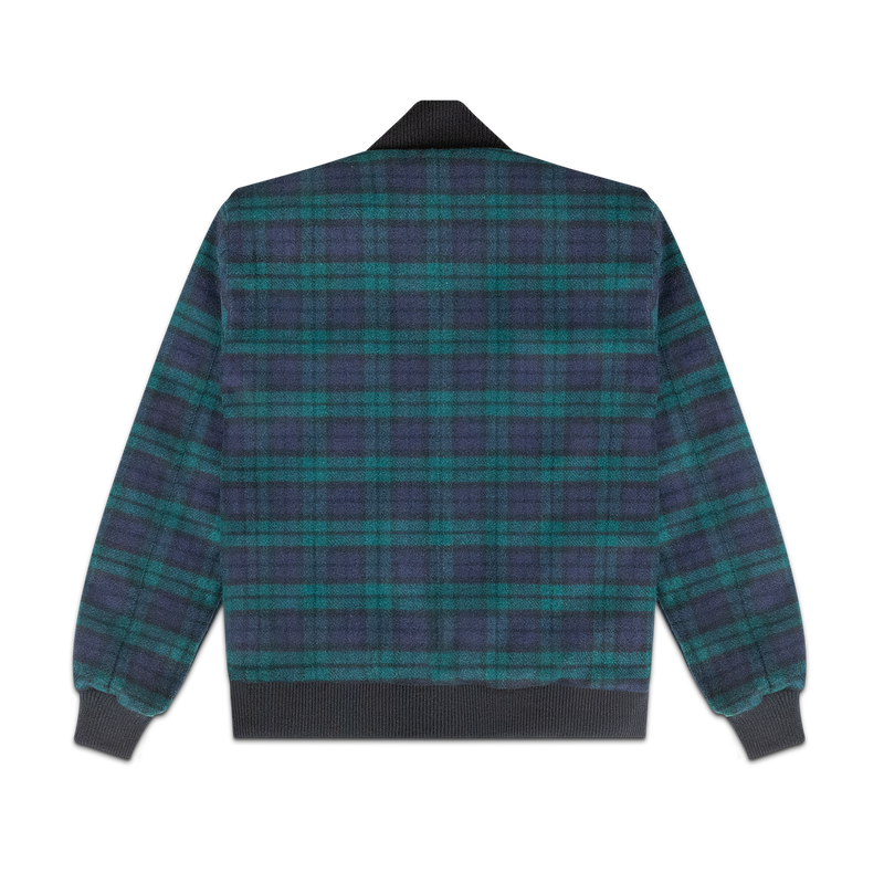 Black Watch Tartan Virgin Wool Bomber
