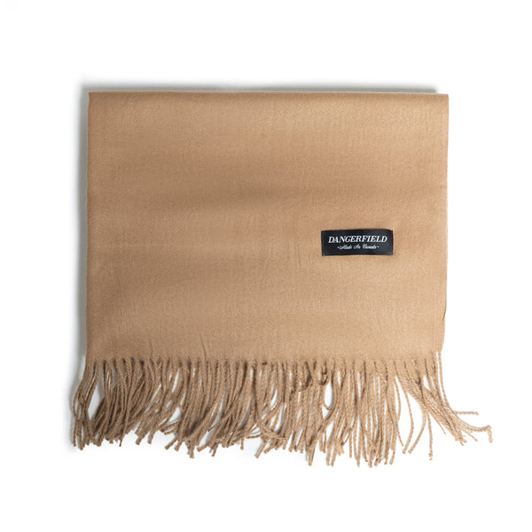 Camel Cashmere/Wool Scarf