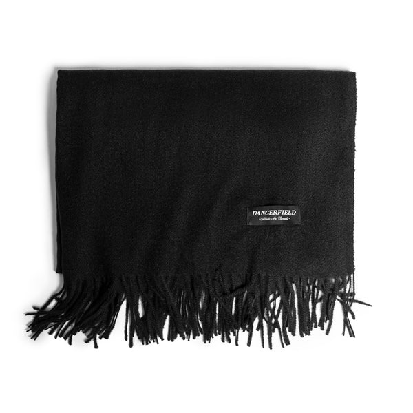Black Cashmere/Wool Scarf