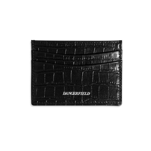 Cardholder Croc Embossed Leather