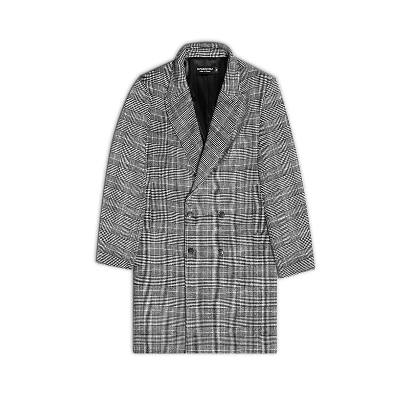 Double Breast Glen Check Overcoat