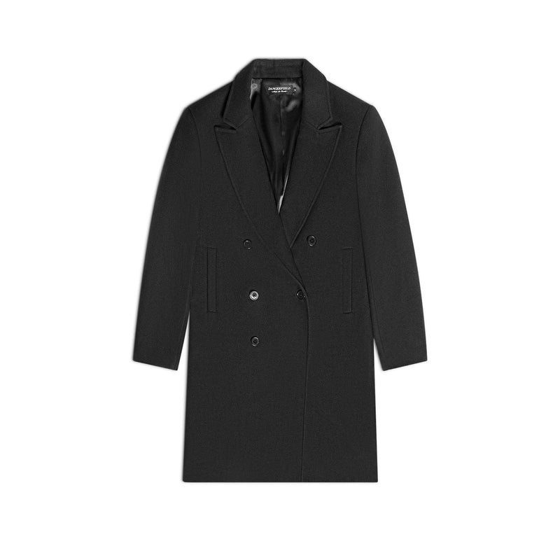 Double Breast Black Overcoat