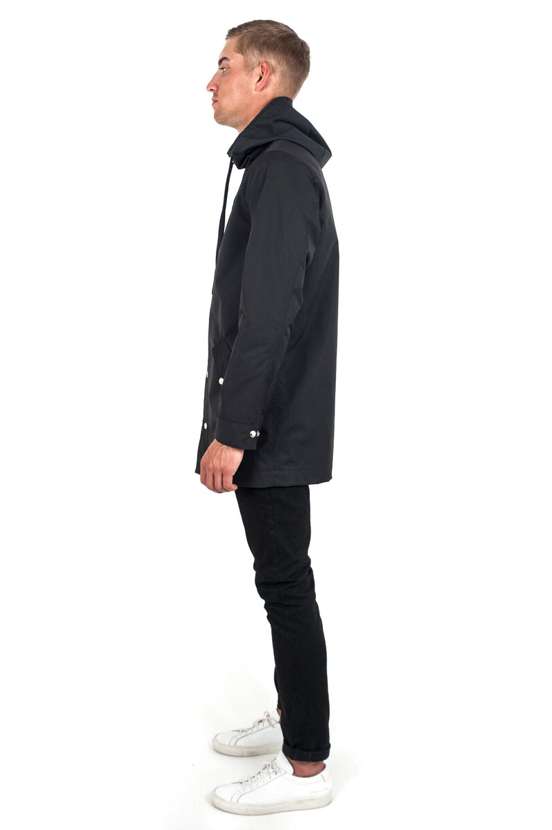 Black Gore Tex Rain Jacket