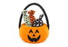 Halloween Pumpkin Basket w/ 3 piece squeaker