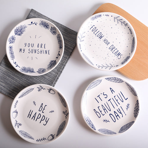 Ceramic Inspirational Plates - Choose your saying