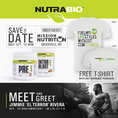 "NutraBio Takeover w/ Jimmie ""El Terror"" Rivera Saturday 05/12"