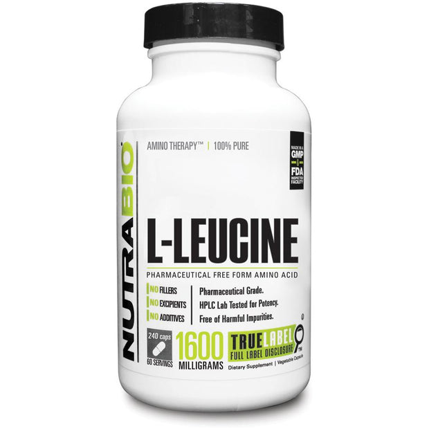 Leucine 400mg (240 Vegetable Capsules)