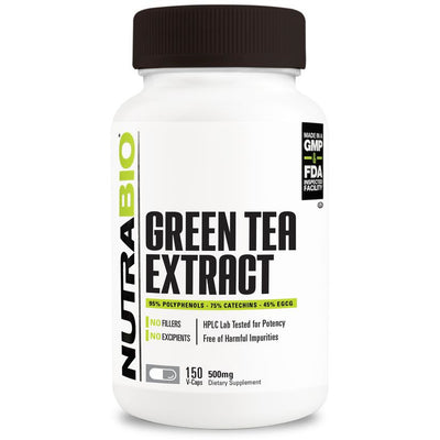 Green Tea Extract 500mg (150 Vegetable Capsules)