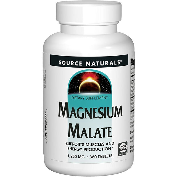 Magnesium Malate 1250mg (360 Tablets)