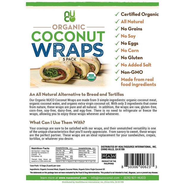 Coconut Wraps Organic (5 Count)