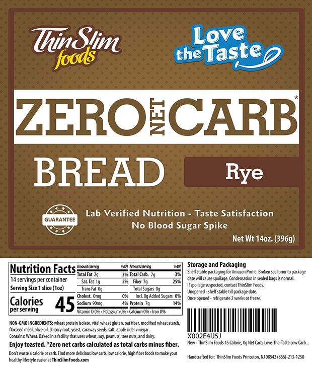 Love-The-Taste Low Carb Bread (Rye)