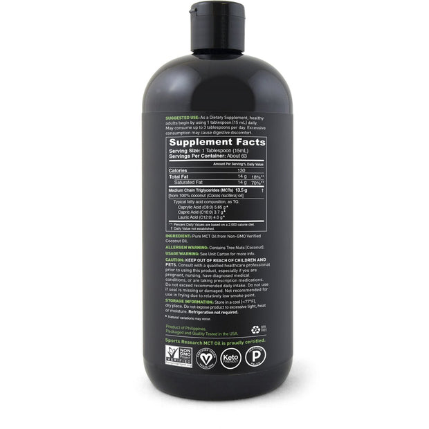 Premium Mct Oil (32 oz)