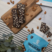 Sugar Free Chocolate Bark w/ Sea Salt + Almonds
