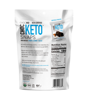 Keto Snaps - Dark Chocolate Coconut + Almonds + Sea Salt 3.4 oz.