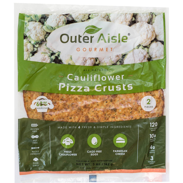 Cauliflower Pizza Crusts (2 Crusts)