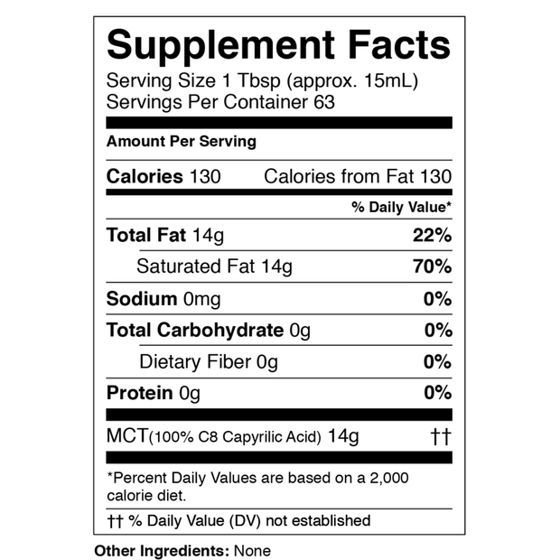 Pure C8 MCT Oil (32 oz)