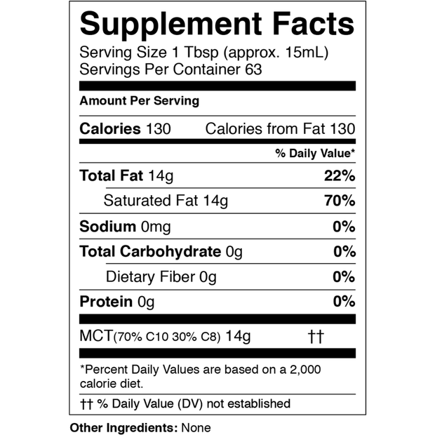 Pure MCT Oil (32 oz)