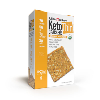 Keto Thin Cheddar Crackers 8.4 oz