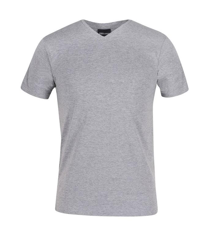 Classic V Neck Tee grey marle
