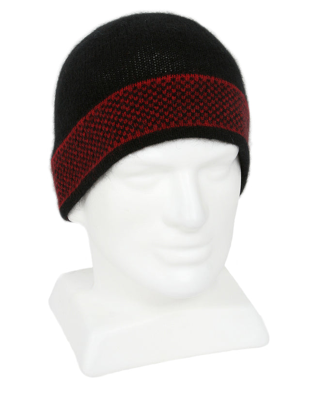 Merino Possum Morse Beanie red