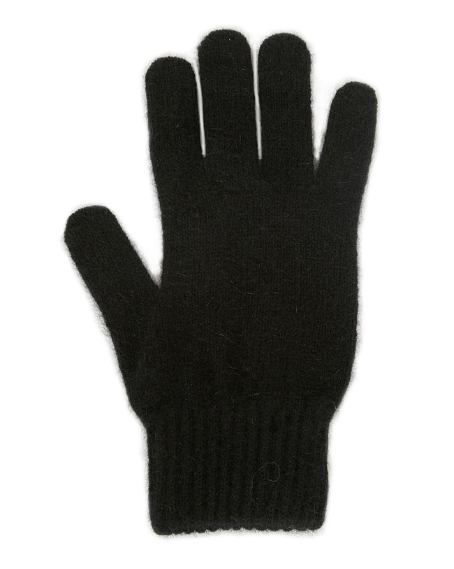 Merino Possum Plain Gloves black