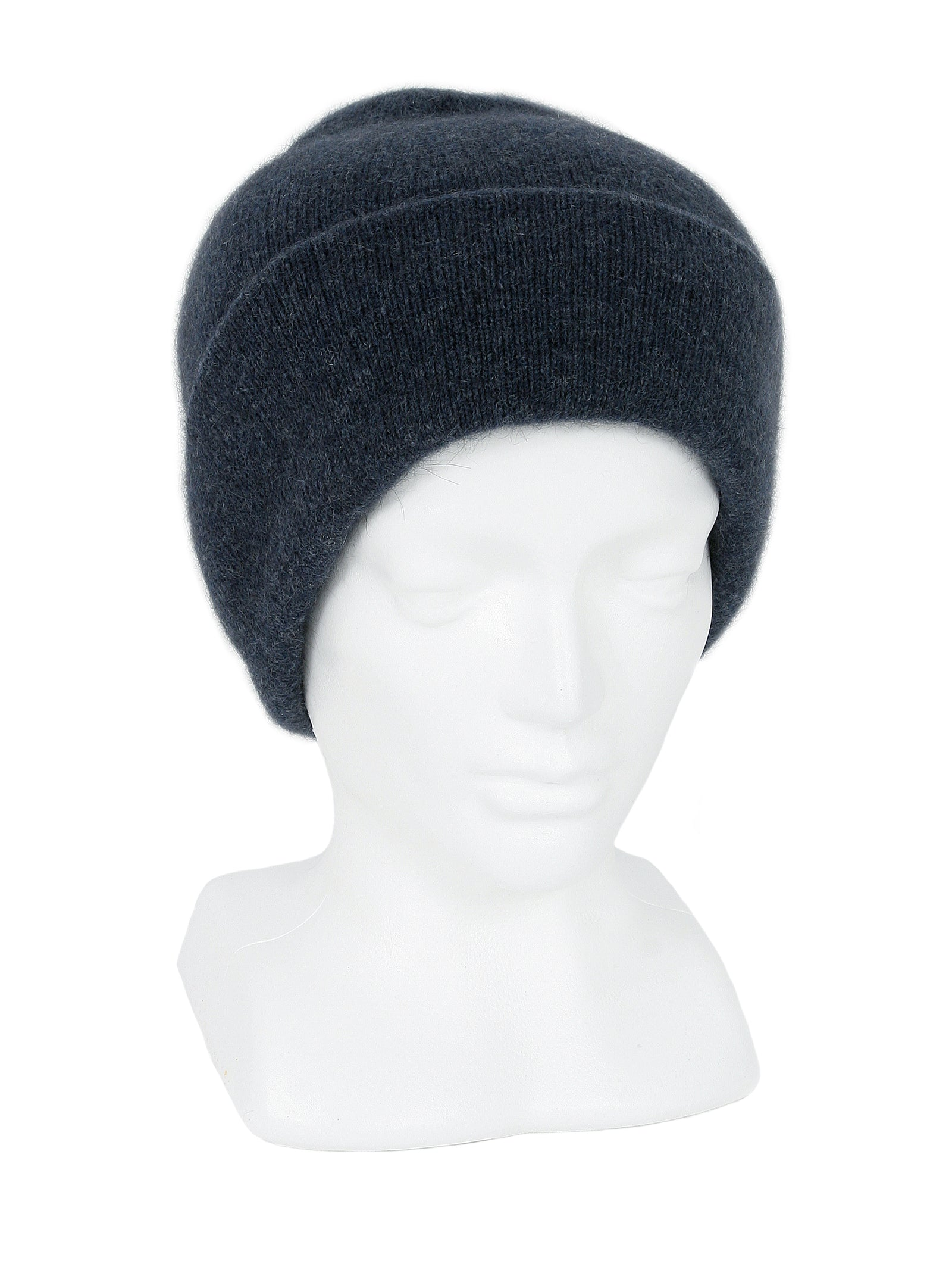 Merino Possum Plain Beanie denim