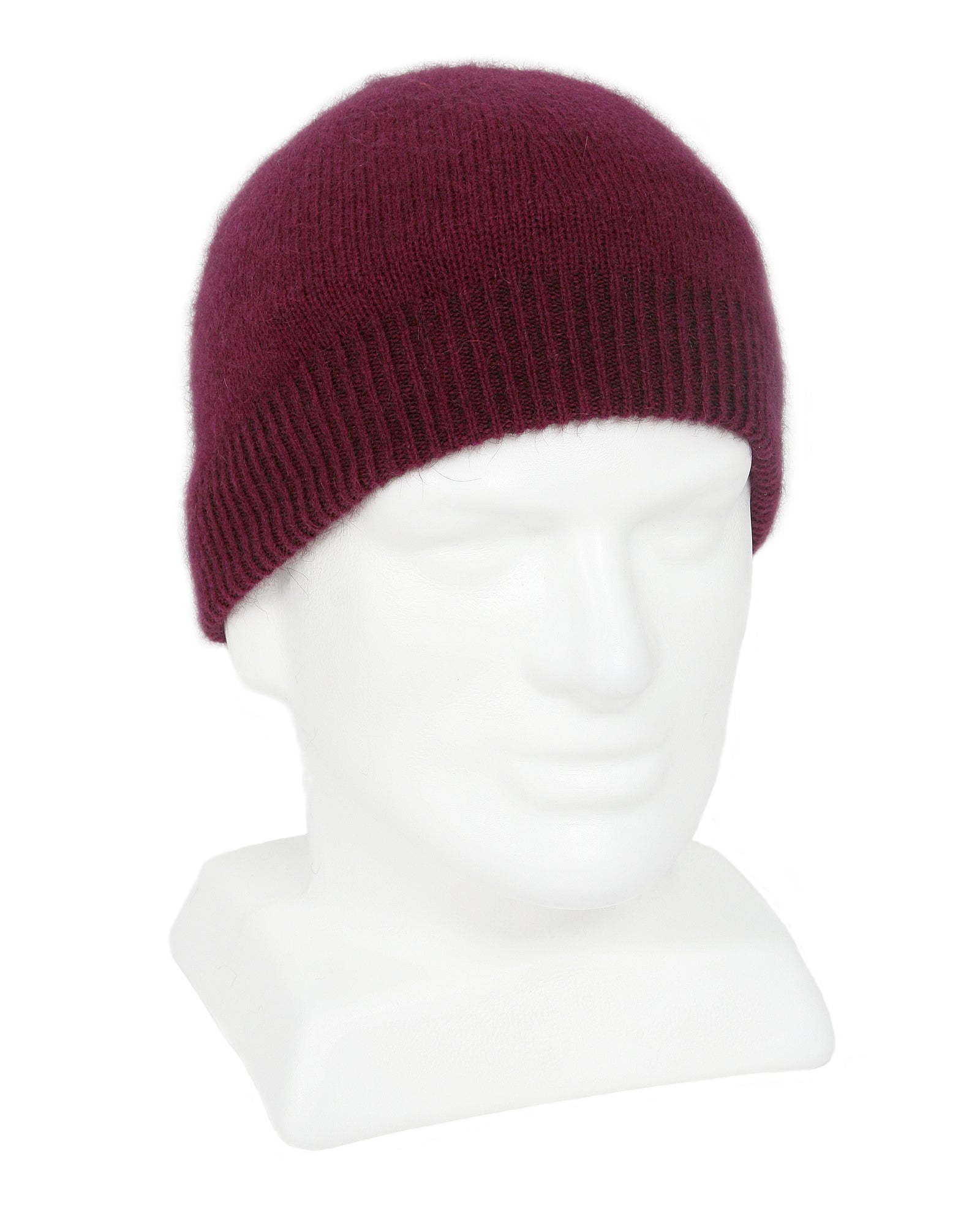 Merino Possum Double Thickness Skull Beanie berry