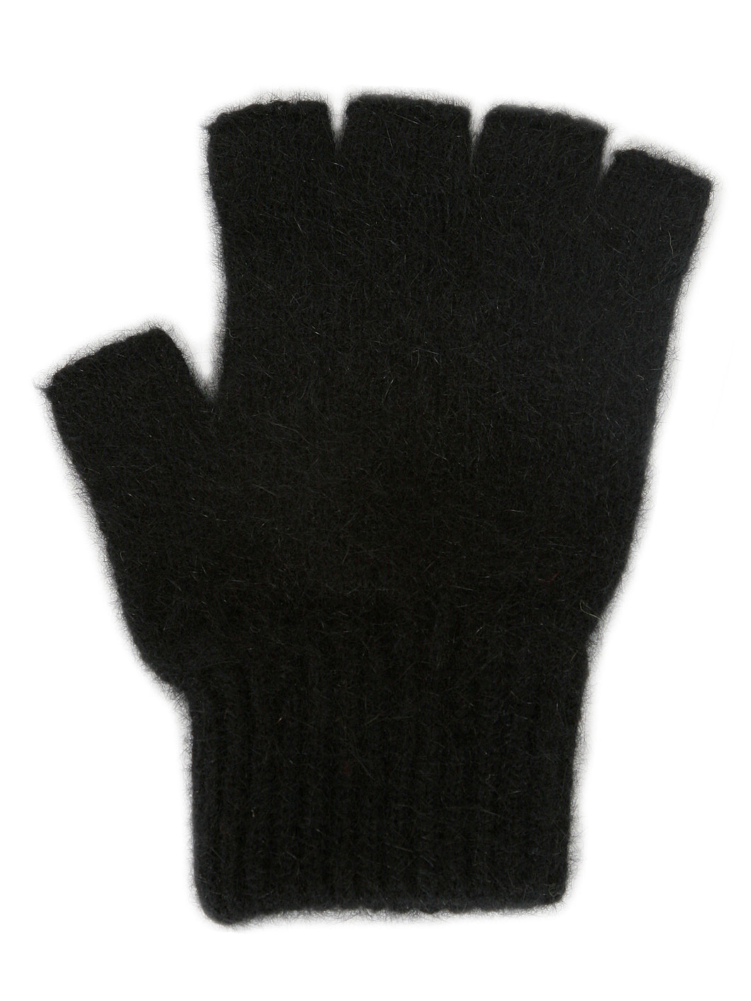 Merino Possum Open Finger Gloves black