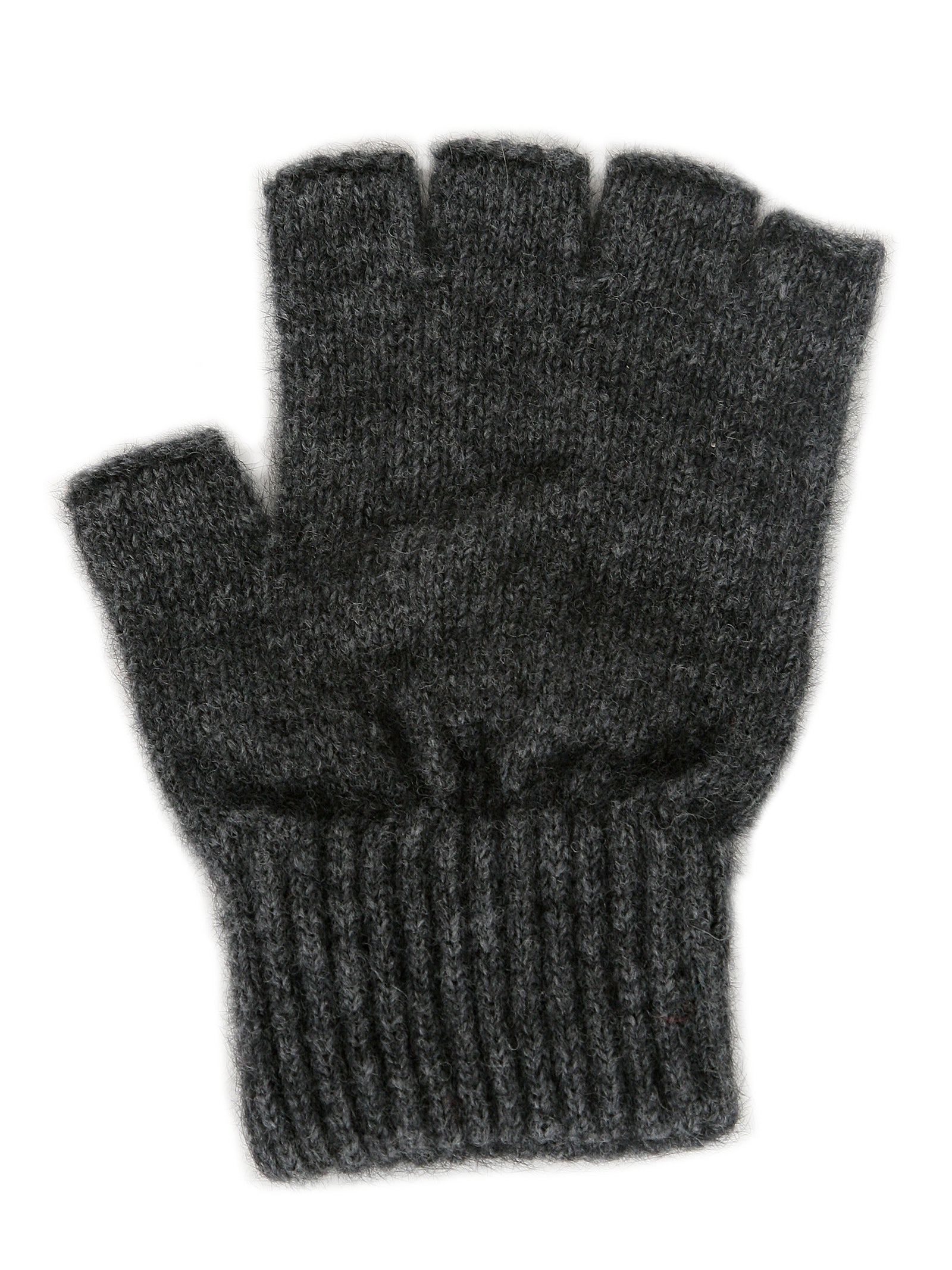 Merino Possum Open Finger Gloves charcoal