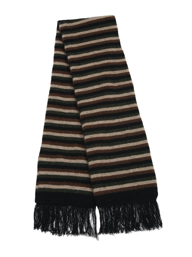 Merino Possum Multi Stripe Scarf black
