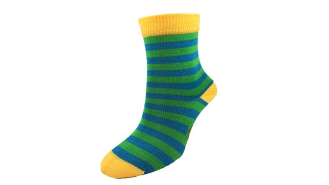 Merino Kids 'Big Stripe' Yellow socks