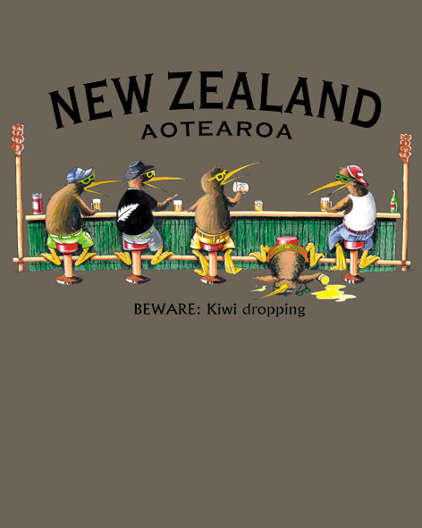New Zealand Tee: Kiwi Dropping