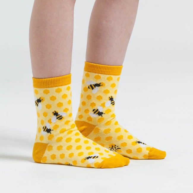 Bees Knees: kids crew socks