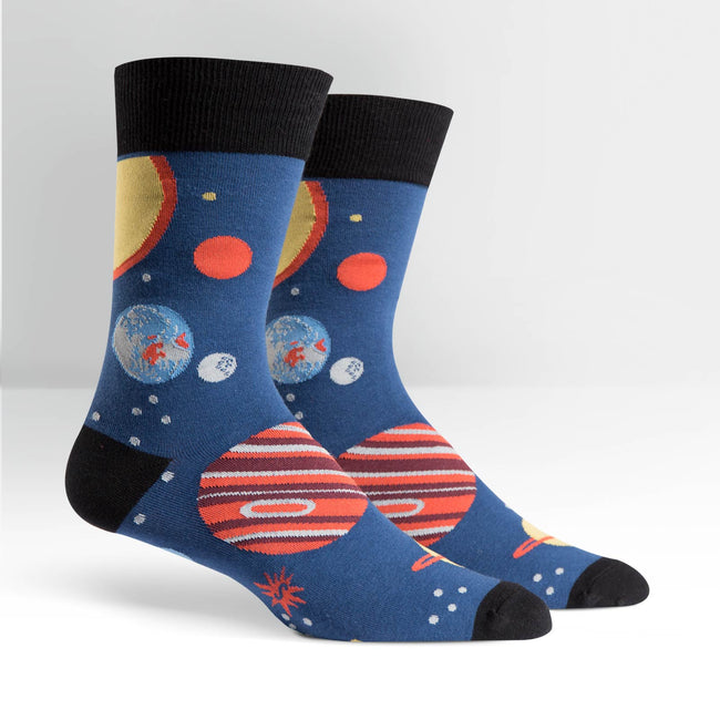 Planets: mens crew socks