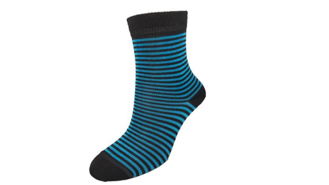 Merino Kids 'Small Stripe' Blue socks