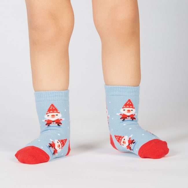 Santa Gnome: kids crew socks