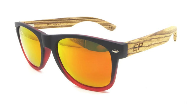 Black to Red: Yellow lens sunglasses