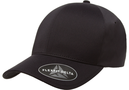 Flexfit Delta Hat Black