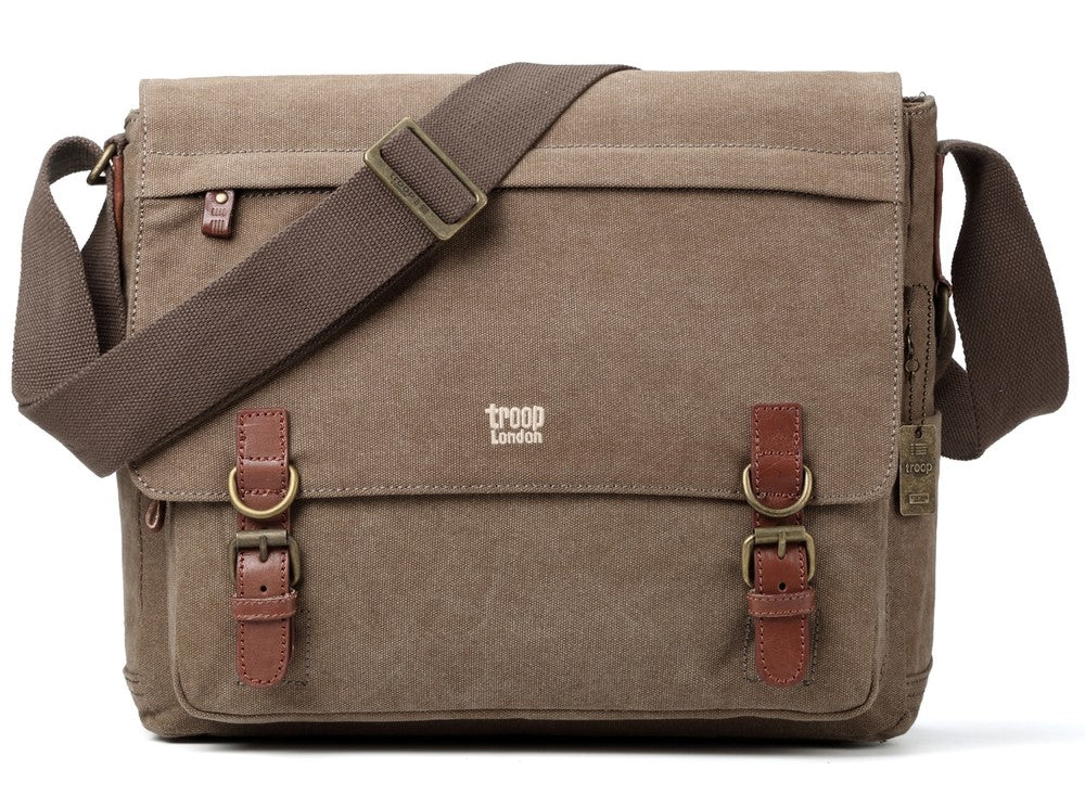 Classic Laptop Messenger Bag - Brown